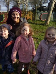 Hilltop Tots Day Nursery , Talke, Stoke-on-Trent, first forest school in the local area