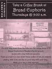 Hilltown Families social at Bread Euphoria