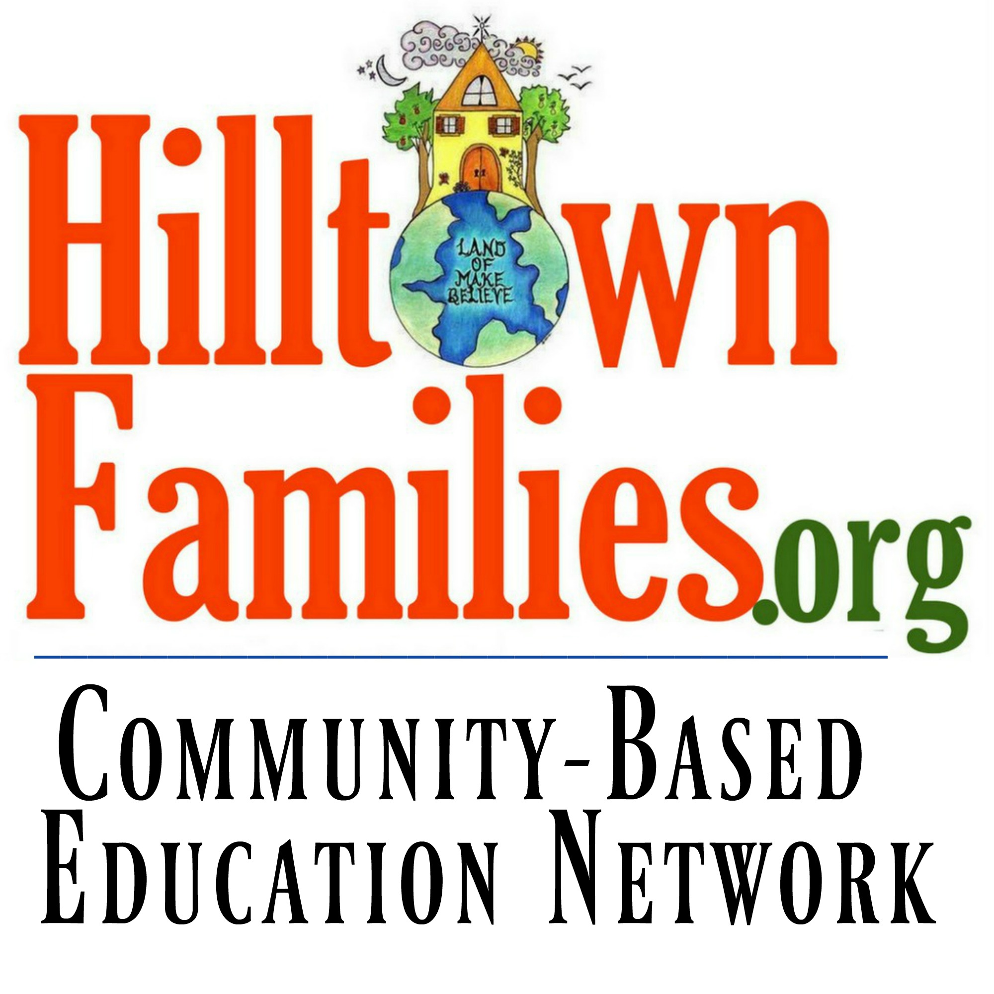 "Graphic with the words ""Hilltown Families: Community-Based Education Network"