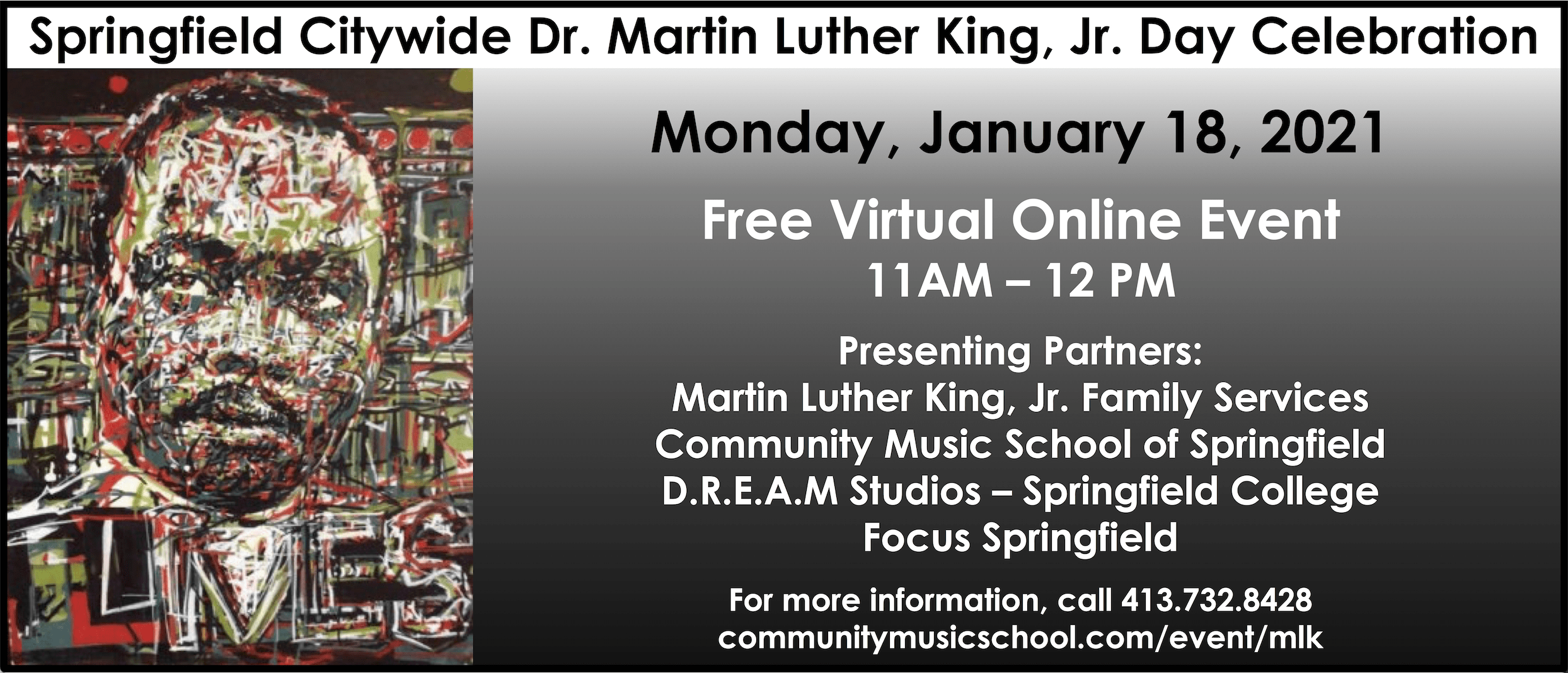 Virtual Martin Luther King Day on January 18, 2021
