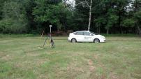 Collecting GPS data, Blueberry Hill Farm, Mount Washington, MA