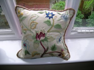 The finished cushion - designed by Phillipa Turnbull