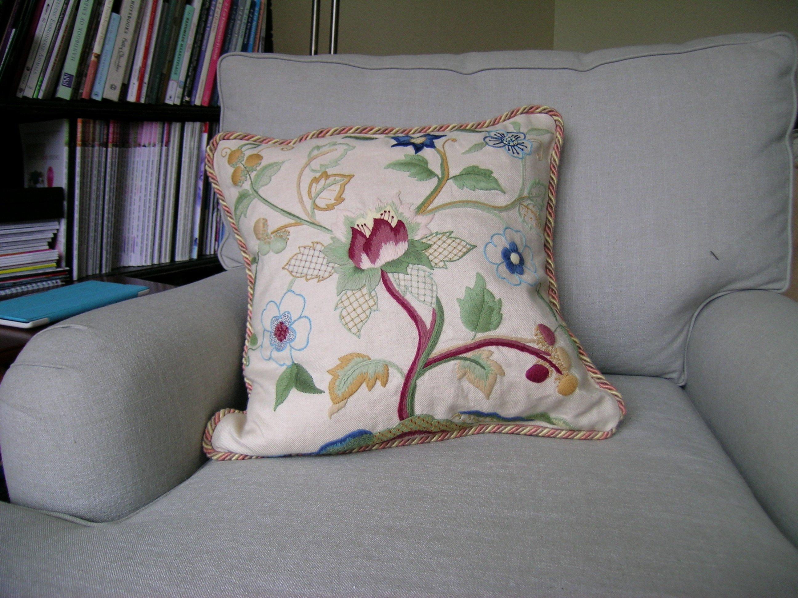 The new Tulip tree Cushion - designed by Phillipa Turnbull