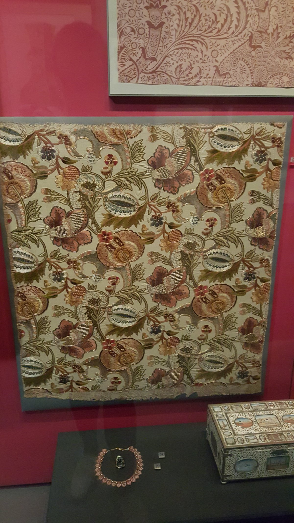 2015 Oct V&A Crewel work wall hanging