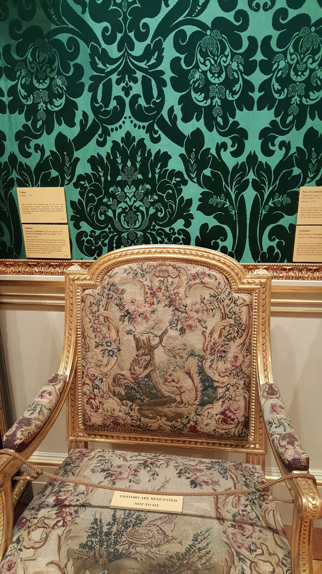 2015 Oct Wallace collection Tapestry chair squirrel 2