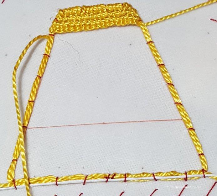 needlelace practise 1
