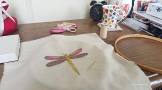 Preparing the embroidery