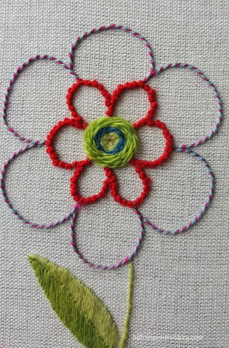 completed flower and leaf
