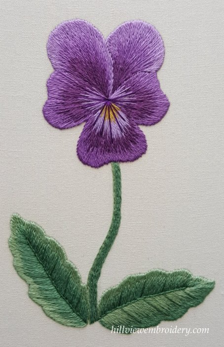 Pansy silk shading