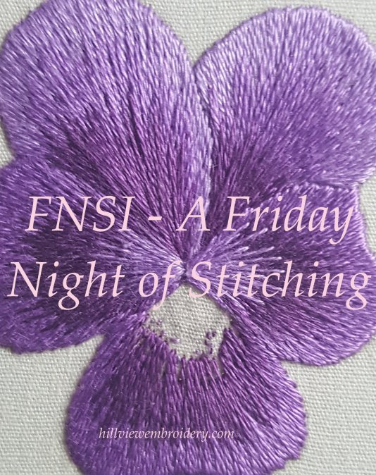 A Friday Night of Stitching