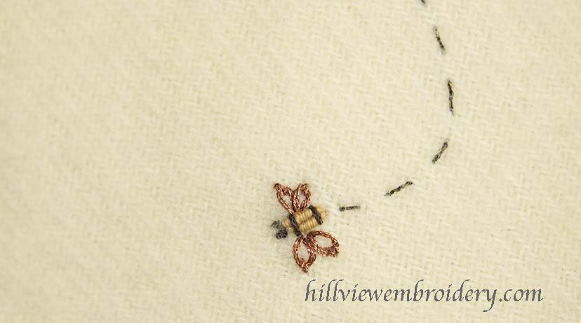 Buzzing bees! A great way to add character to your embroidered piece