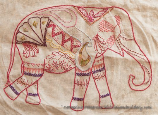 Elephant update - an update on a stitch sampler