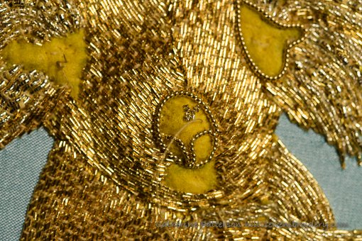example of worked pearl purl in goldwork hand embroidery