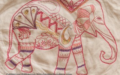 Elephant Stitch Sampler Update – And a Finish!