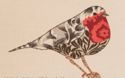 Nicola Jarvis' Crewelwork Robin
