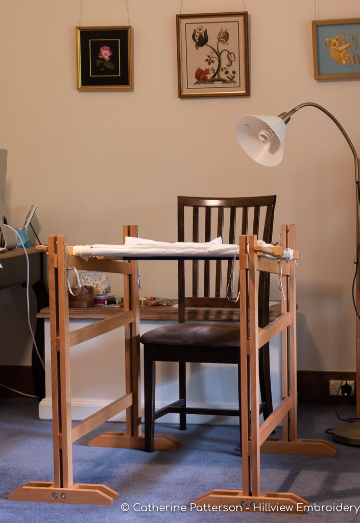 the perfect addition to your stitching space - a set of MRS embroidery trestles!