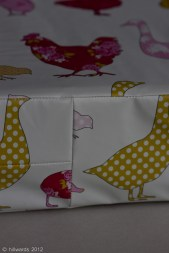 Detail of oilcloth kneeling pad
