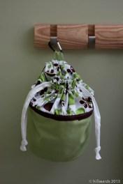 Clothes peg bag hanging
