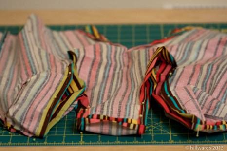 Outer cotton m-shape bag