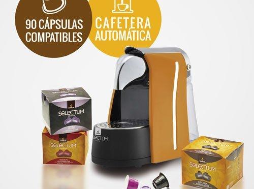 Cafetera CANDELAS + surtido de 9 variedades de cápsulas por 40 € puesta en casa!!