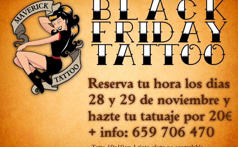 Chollo en tatuajes el Black Friday
