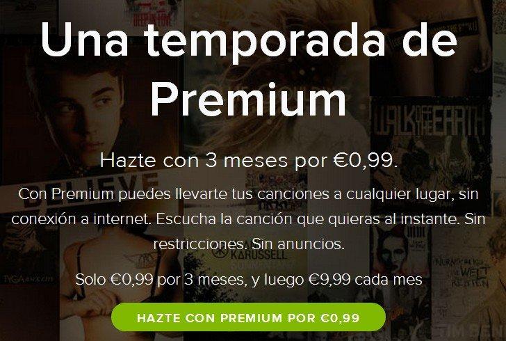 Chollo, 3 meses de música premium de spotify por 0,99 €