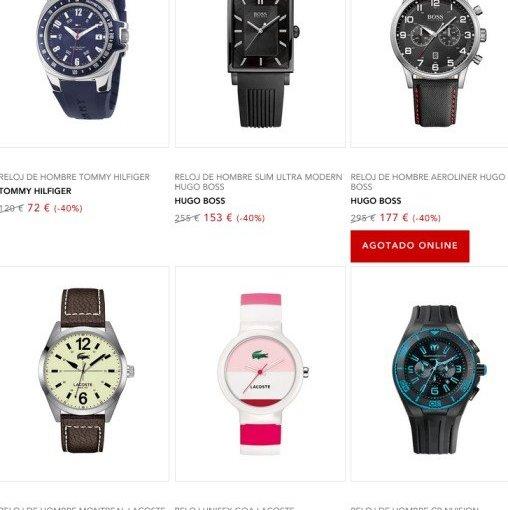 Chollo Cyber Monday! Relojes de marca al 40 % de descuento en ECI