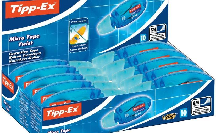 Chollo rápido! 10 unidades de Tipp-Ex por 5,61 €