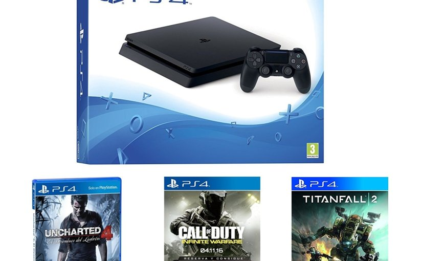 Super chollazo para jugones. PlayStation 4 + 3 juegos por 299,9 €