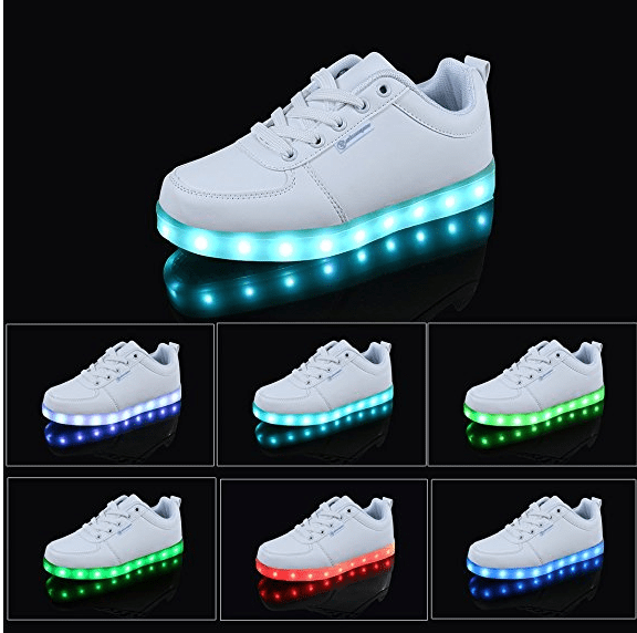 zapatilla con luz LED baratas
