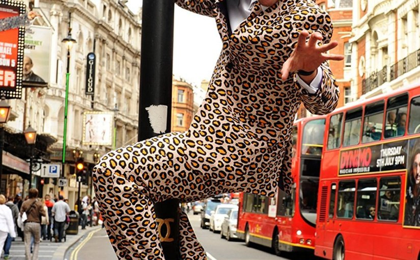 Super chollo traje de hombre de leopardo