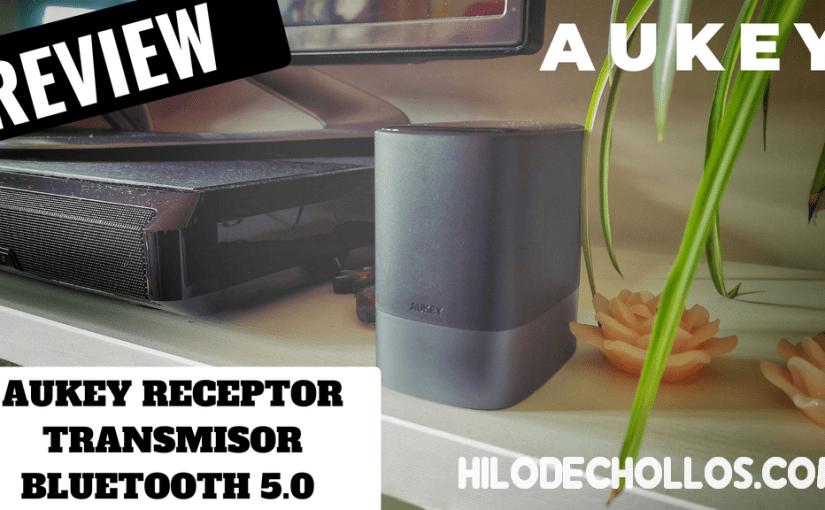 El más moderno transmisor receptor de audio Bluetooth 5.0 de Aukey