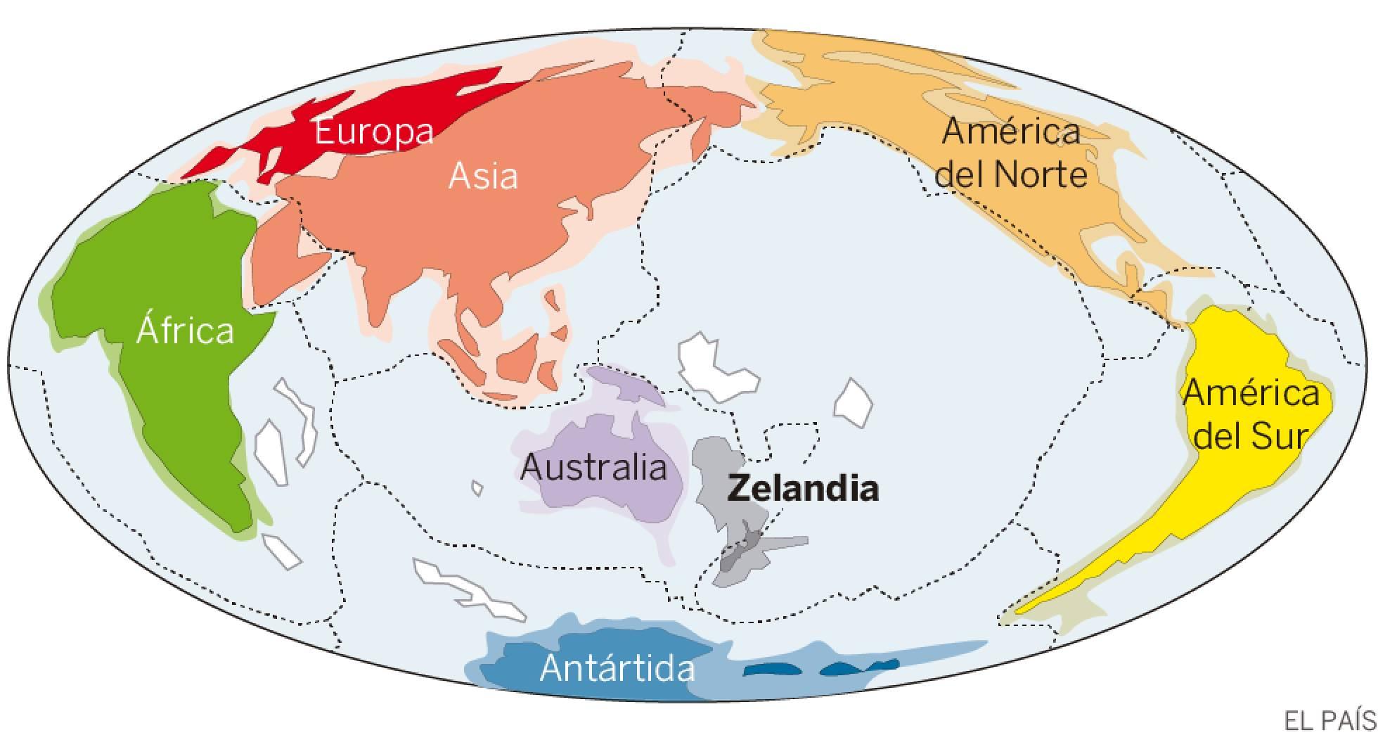Resurge Zelandia, un enorme continente sumergido en el Pacífico