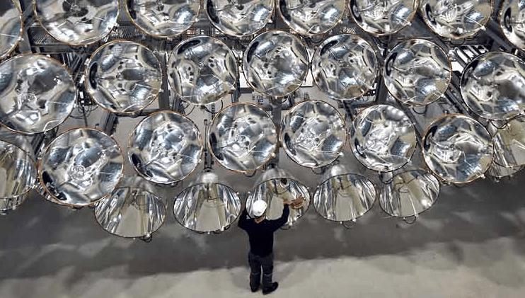 Científicos alemanes ponen a prueba un 'sol artificial'