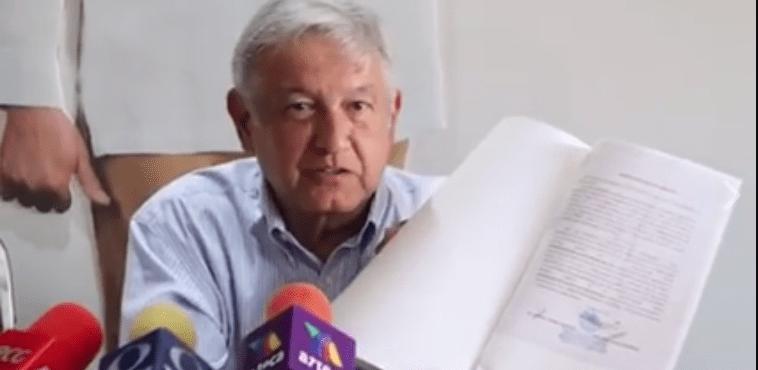 Calderón exoneró a Moreira, prueba AMLO con expediente (VIDEOS)