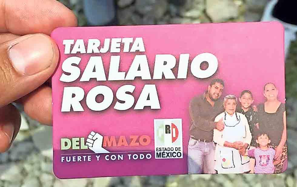 Denuncian en el INE tarjetas 'rosas' de la campaña del PRI en Edomex