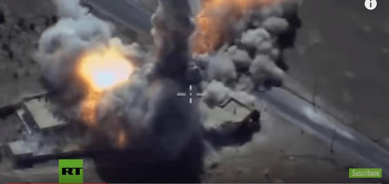 Rusia ataca con misiles bases de ISIS en Siria (VIDEO)