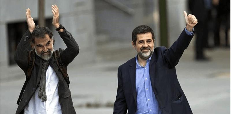 España encarcela a dos líderes catalanes