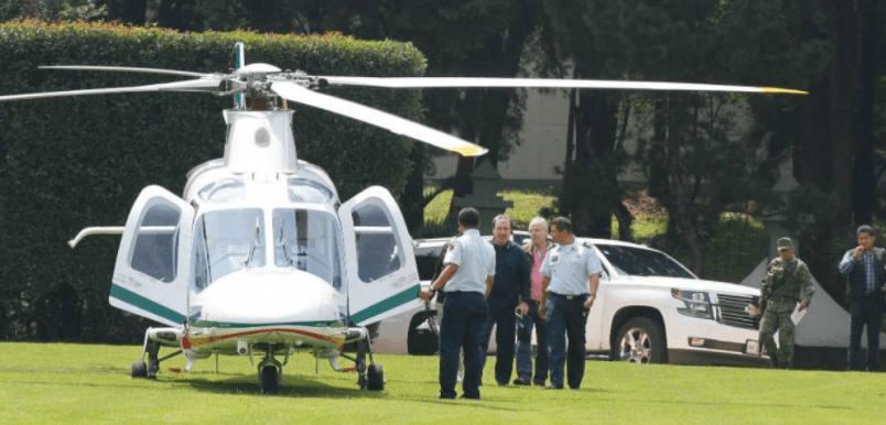 En helicóptero, Gamboa Patrón interrumpe mundial de arquería