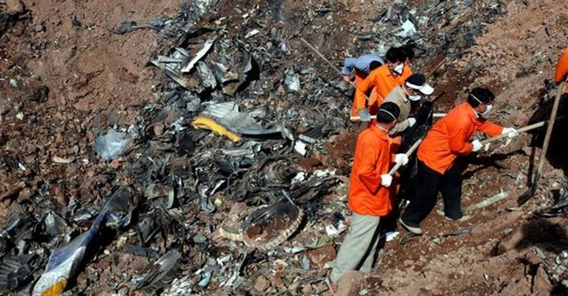 Avionazo en Irán deja 66 muertos