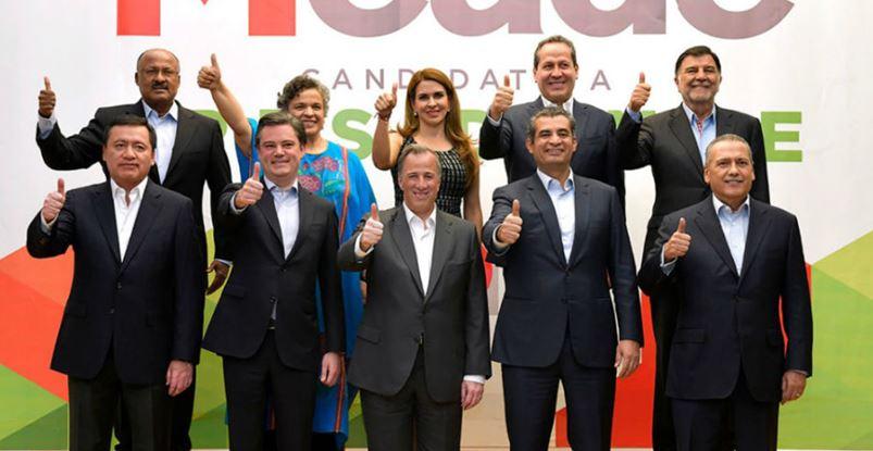 Refuerzan campaña de Meade con Osorio, Beltrones y Paredes