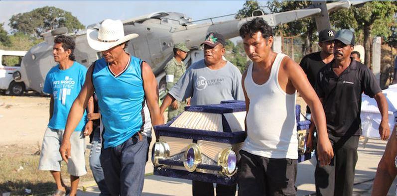 Dramático adiós a los 13 muertos del helicopterazo el día del sismo