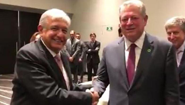 López Obrador sostiene encuentro con Al Gore (VIDEO)
