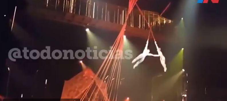 La trágica muerte de un acróbata de Cirque du Soleil en Florida (VIDEO)