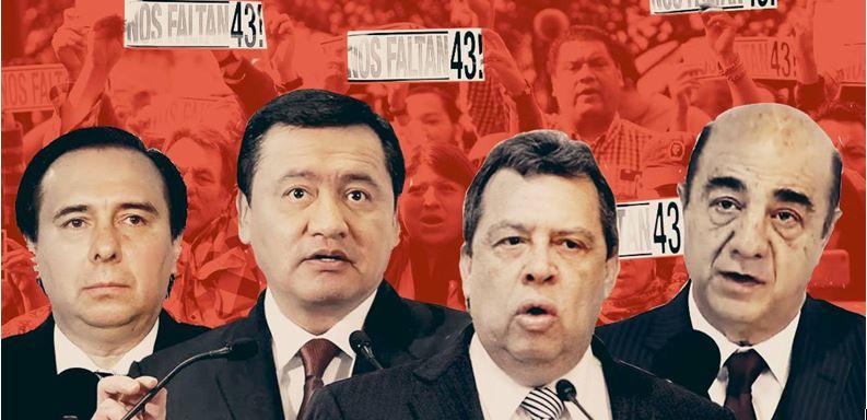 4 inolvidables de Ayotzinapa: Murillo, Aguirre, Zerón y Osorio Chong
