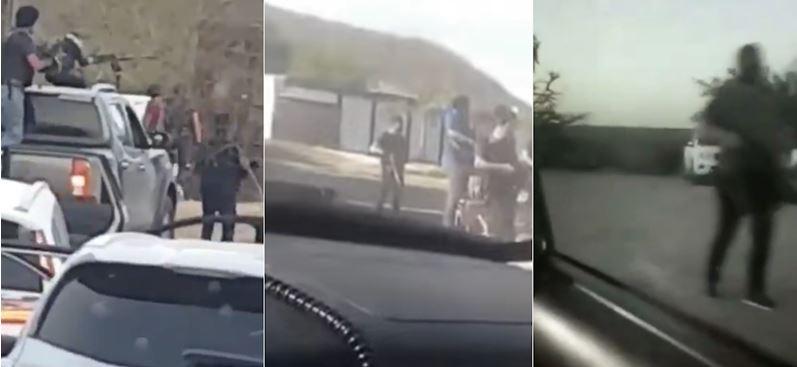 A ritmo de banda, comandos toman pueblos al norte de Culiacán (VIDEOS)