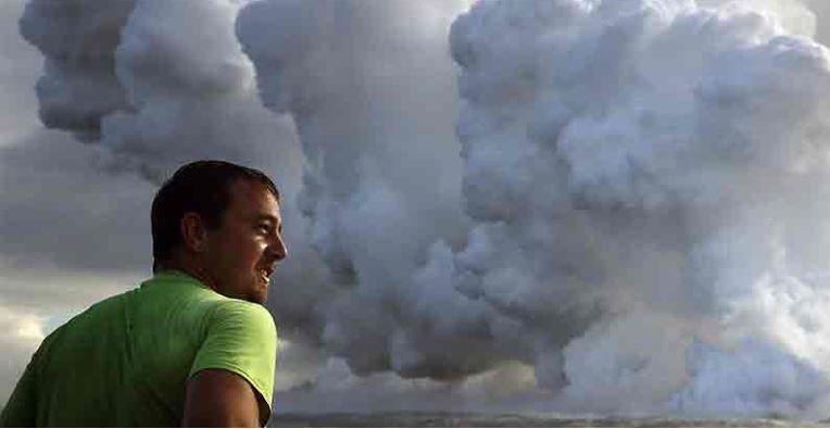 Volcán Kilauea llevanta una nube tóxica