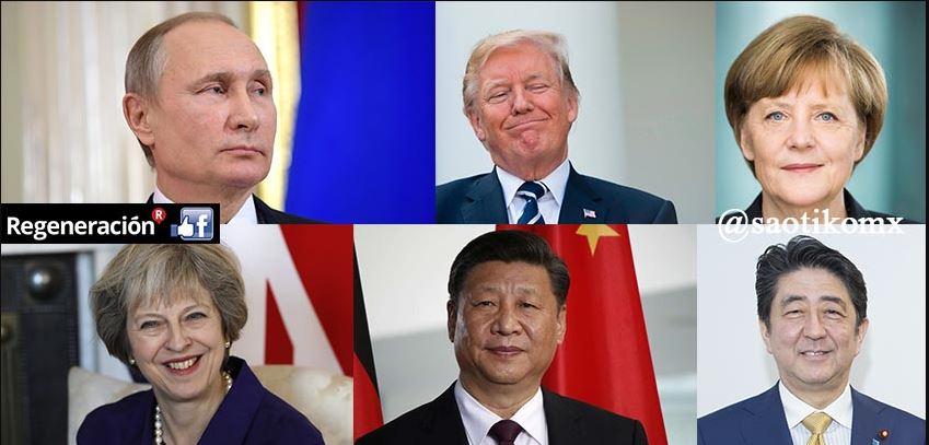 Las 7 potencias del mundo, dirigidas por líderes con más de 60 años