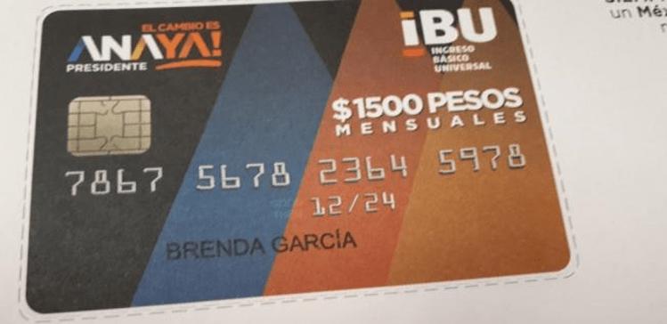 Al estilo del PRI, Anaya oficializa reparto de tarjetas con mil 500 pesos al mes