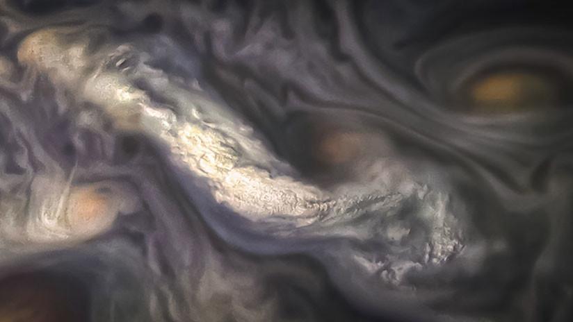 La NASA publica una fantasmagórica fotografía de las nubes de Júpiter